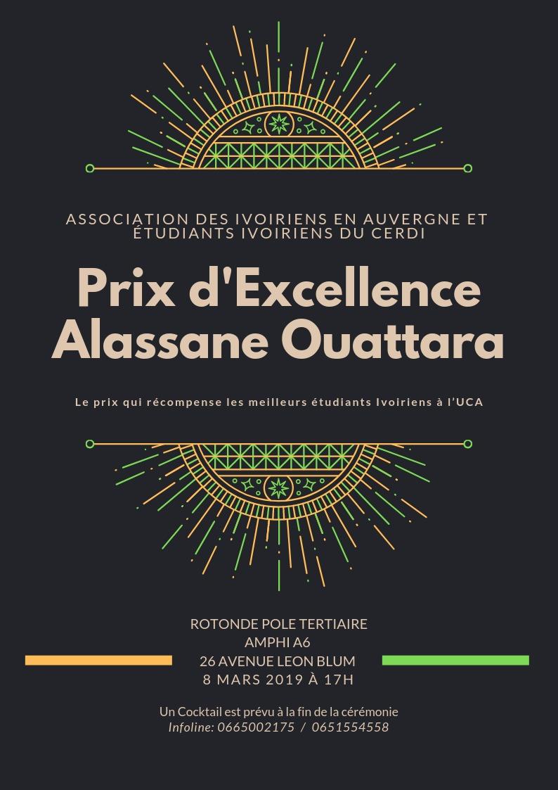 Prix excellence A. Ouattara