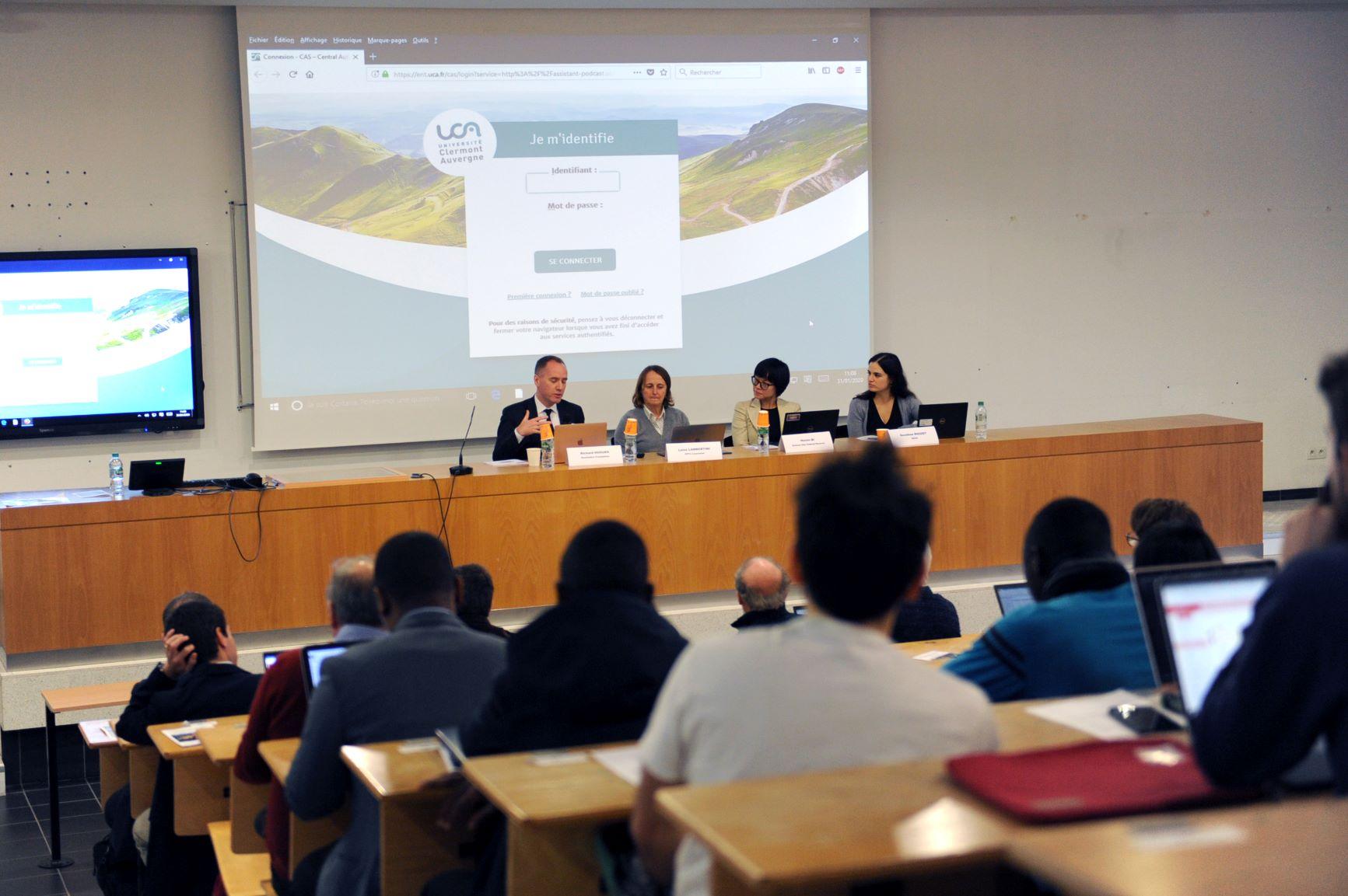 Policy Panel: Richard Hughes (Resolution Foundation, London), Luisa Lambertini (EPFL, Lausanne), Huixin Bi (Federal Reserve Bank of Kansas City), Dorothée Rouzet (OECD) © Aurélie Goumy